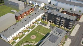Stor efterfrågan på Drottninghögs första radhus i gröna, trygga kvarter