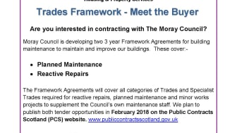 Events arranged to help local contractors contract for Moray Council