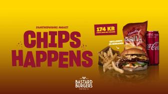 Augustis signaturburgare på Bastard Burgers med Grillchips från Estrella, 2021