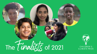 Here are the five finalists for the 2021 Children's Climate Prize