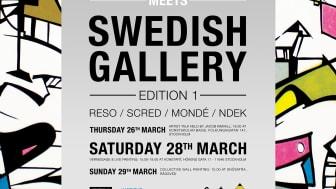 """""""French Graffiti meets Swedish Gallery"""" 26/3 - 3/4  i Stockholm - med start på Konstskolan Basis"""