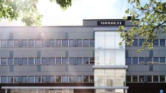 Azets Insight får nu ett nytt svenskt huvudkontor med adressen Ekensbergsvägen 113 i Solna Business Park. Bild: Fabege