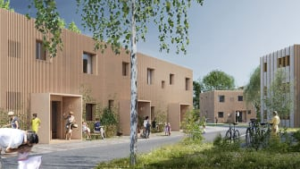 Skiss över Lingenäs bostadsområde på Näsby, som ska byggas av Lyckos.