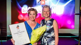 Förra årets vinnare Maria Mattson Mähl (t v) och Lena Möllerström Nording (t h) Foto: Pax Engström