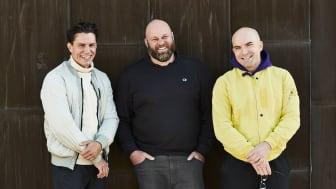 Joel Söderbäck, Robert Rudinski och Andreas Bergman, grundarna av Positano