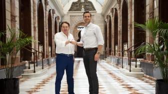 Tidigare majoritetsägaren Jose Manuel Sanchez (till vänster) och Daniel Fyhr, VD på Secify (till höger)