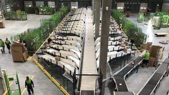 Sorteringsbånd Bring Logistikcenter København .