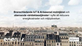 Egain och Enerlis tillkännager ett partnerskap för att hjälpa franska fastighetsägare att minska energianvändningen och miljöpåverkan.