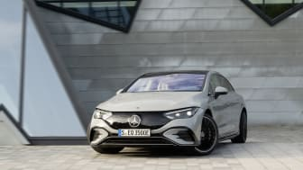 Nya eldrivna sedanen EQE från Mercedes-EQ har upp till 66 mils räckvidd.