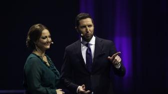 Stéphanie Surrugue og Kåre Quist. Foto: Bjarne Hermansen