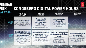 Experts from Kongsberg Digital will host a series of Power Hours for digital maritime technologies