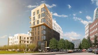 """Midrocs bostadsprojekt """"Hyllie Corner"""" lockade många besökare på Hyllie Lägenhetssafari"""