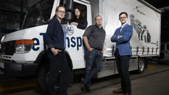 Members of the BPW eTransport team (from left to right: Katja Boecker, Francisca Magyar, Frank Löhe and Josha Kneiber), whose electric drive concept proved compelling for the Energy Awards jury.