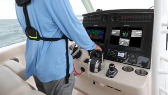 High res image - Raymarine - DockSense Alert on helm of Boston Whaler 380 Outrage