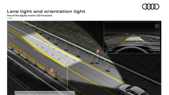 Lane light and orientation light - Two of the digital matrix LED functions
