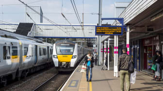 (Library picture, taken before Coronavirus) A second footbridge will be built at St Albans City station in addition to the one pictured here, to save passengers time queuing to get on and off the platforms