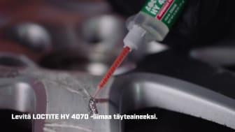 Korjaa alumiinivanne yleiskäyttöisellä LOCTITE HY 4070 -liimalla (FI)