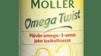 Pehmeä, sitruunanmakuinen Möller-kalaöljy