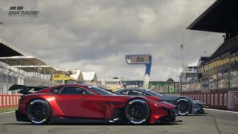 Provkör en Mazda RX-Vision GT3 Concept