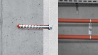 Infästningssystemet kombinerar betongskruven W-BS med injekteringsmassa WIT-BS och ger snabb och säker montage i betong.