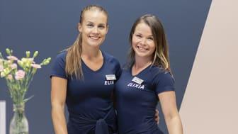 Kuvassa: ELIXIA Iso Omenan Club Manager Heini Peltonen ja Assistant Club Manager Milla Rajanti.