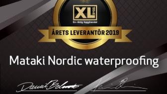 Årets XL-BYGG leverantör 2019 är MATAKI Nordic Waterproofing!