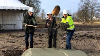 Johan Sjöstedt Mariastaden Projekt AB, Ulf Molin (C) vice kommunalråd i Höganäs och Fredrik Ljung BAB