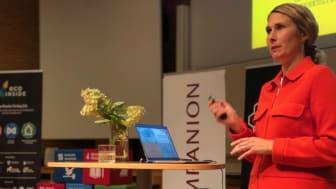 Spendrups hållbarhetschef Anna Lidström inspirerade deltagarna som kreativt arbetade i Dalarna Science Park med hållbarhet under två dagar.