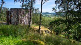 Hovdala vandringscentrum i Hässleholms kommun har nominerats till Skånes arkitekturpris. Foto: Ingmar Kristiansson