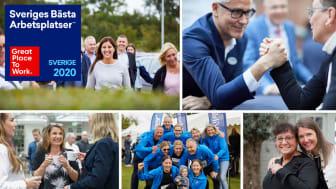 Att hamna på listan över Sveriges bästa arbetsplatser för tredje året i rad är ett fint bevis på den stolthet och den gemenskap som finns hos oss.