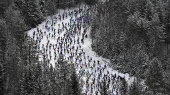 Vasaloppet 5 mars 2017 första backen från ovan