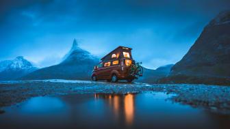 Även i Norge finns allemansrätt som gör det tillåtet att campa över natten i naturen.