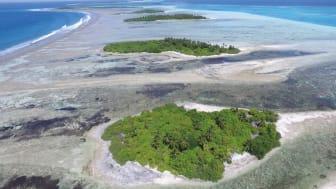 Coral reef rim islands, Huvadhoo Atoll (Photo credit: Prof. Paul Kench)
