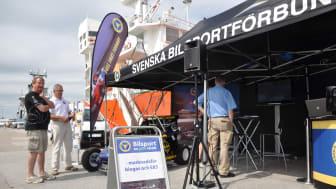 Bilsportens monter i Visby hamn