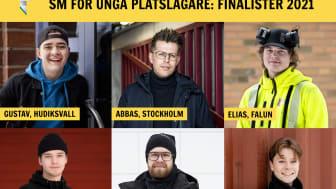 Gustav, Abbas, Elias, Felix, Loke och Anton ska göra upp om SM-guldet i plåtslageri den 14-15 april.
