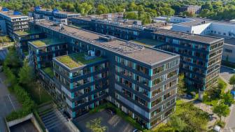 Bürogebäude in Hamburg, vermietet an die MacGregor Germany GmbH & Co. KG, einem weltweit führenden maritimen Anbieter von Fracht- und Ladungsumschlagequipment (Quelle: TLG Immobilien AG/Aroundtown SA, Urheber: Reinhardt & Sommer)