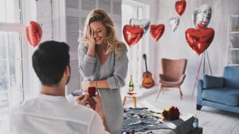 Når du overrasker med det store spørsmålet, skal ringen passe til din utkårede.