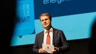 Energiminister Baylan åter till Power Circle Summit på Svenska Mässan i Göteborg