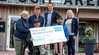 Upsala Studenters IF tar emot KONE och Parasport Sveriges Tillgänglighetsstipendium 2019.