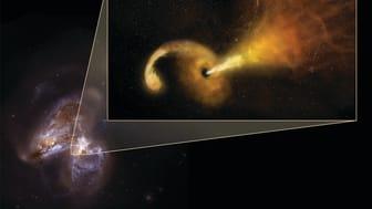 Denna TDE inträffar i två kolliderande galaxer ca 150 miljoner ljusår bort