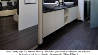 Using High End Resilient Flooring for Bathrooms