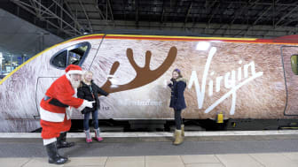 Lucky Christmas travellers to arrive in style aboard Virgin Trains' Traindeer