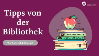 Wie finde ich die passende Literatur für mein Thema? Die HdWM-Bibliothek gibt Tipps für die Literaturrecherche