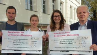 Gymnasium Marienberg sammelt mit Sponsorenlauf