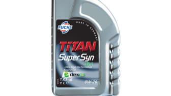 Nya TITAN Supersyn D1 SAE 0W-20 uppfyller API SN PLUS