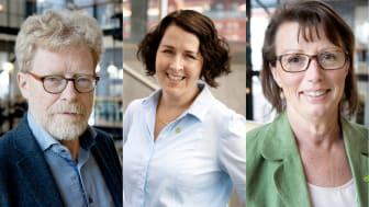 Thomas Hansson (MP), Mätta Ivarsson (MP) och Angela Everbäck (MP).