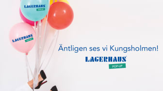 Lagerhaus öppnar pop-up butik i Västermalmsgallerian på Kungsholmen!