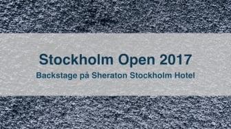 Sheraton Stockholm Hotels förberedelser Intrum Stockholm Open