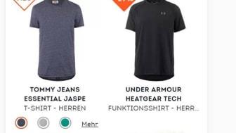 So könnte ein Sponsored Product auf www.sportscheck.com aussehen.