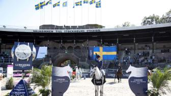 I helgen är det äntligen dags! Hästar på Stockholms Stadion igen när Longines Global Champions Tour gästar Sverige. Foto: Stefano Grasso/LGCT